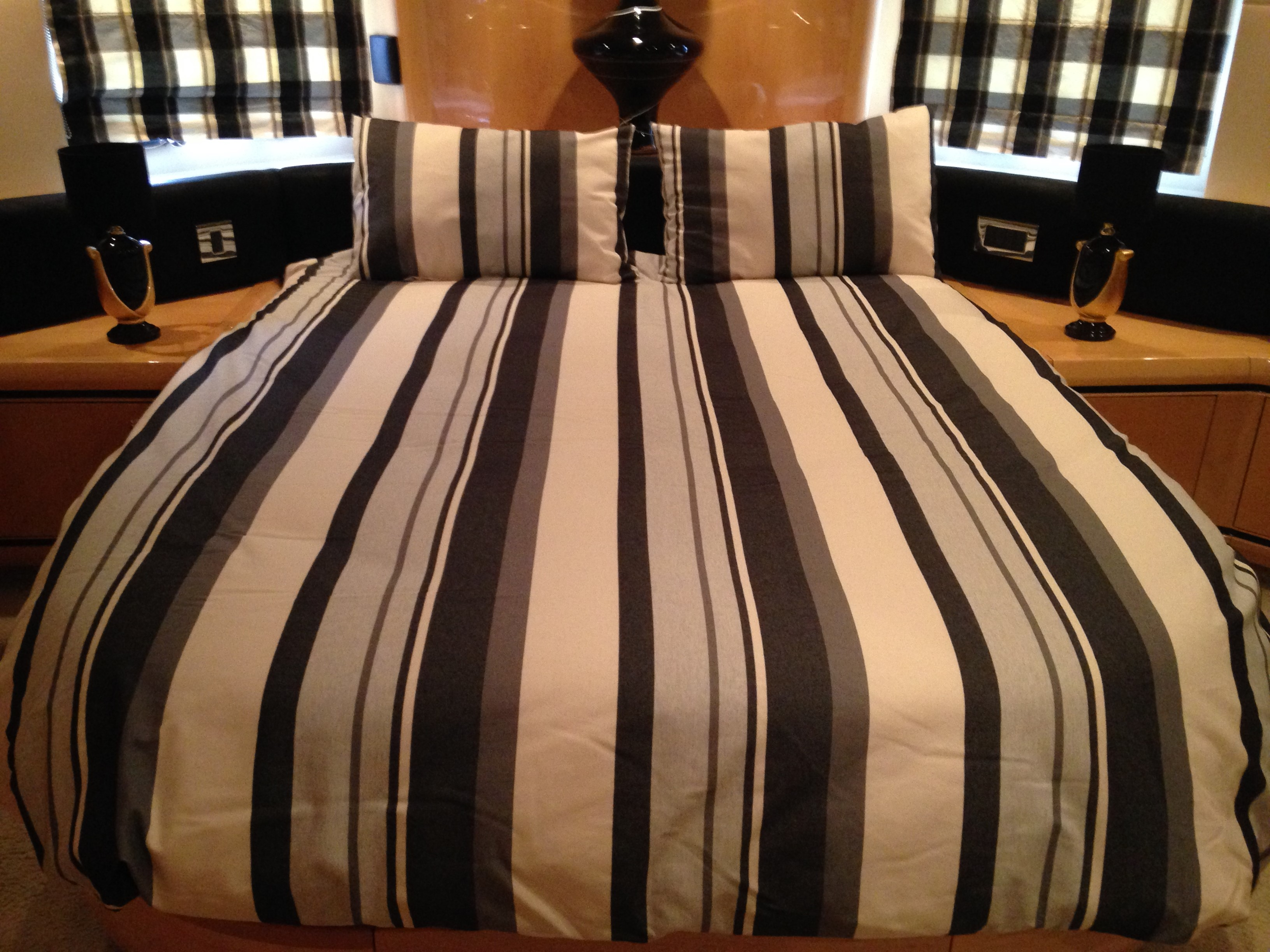 Henley Black Boat Bedding Fabric