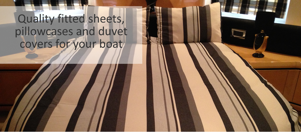 Marine Bedding custom made fitted sheets, duvet covers and pillowcases for your vessel