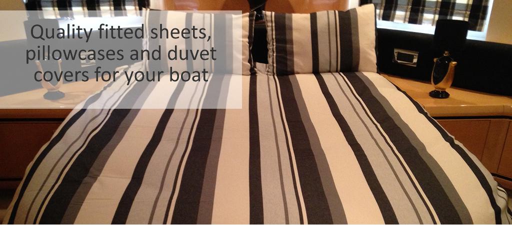 Custom Made Boat Bedding From Marine Bedding