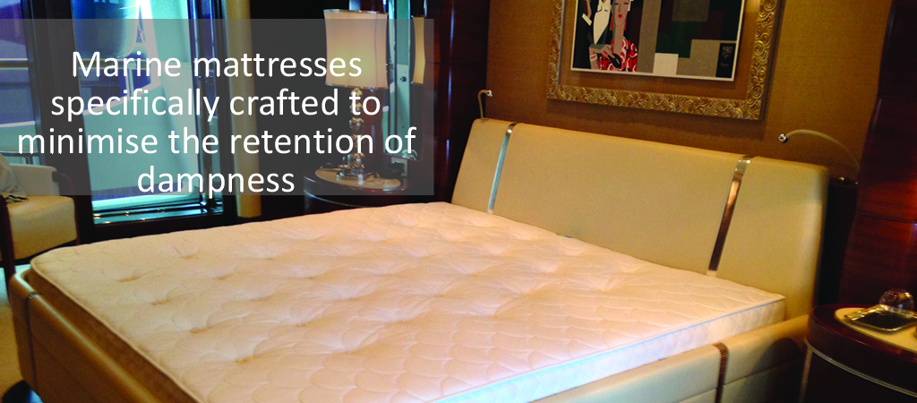 Custom made marine class mattresses for your yacht