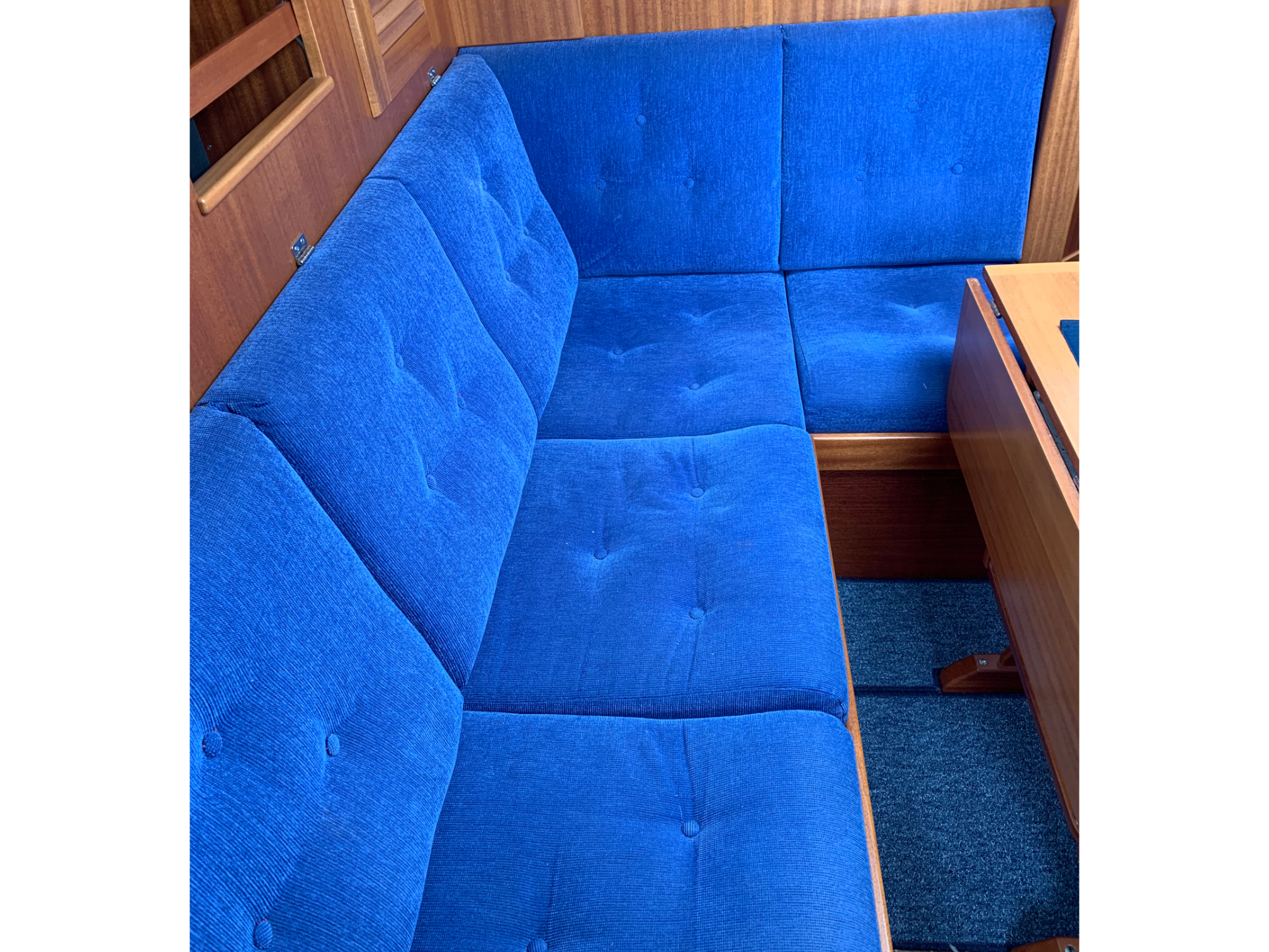 Marine Bedding Boat Upholstery - Blue Saloon Boat Upholstery