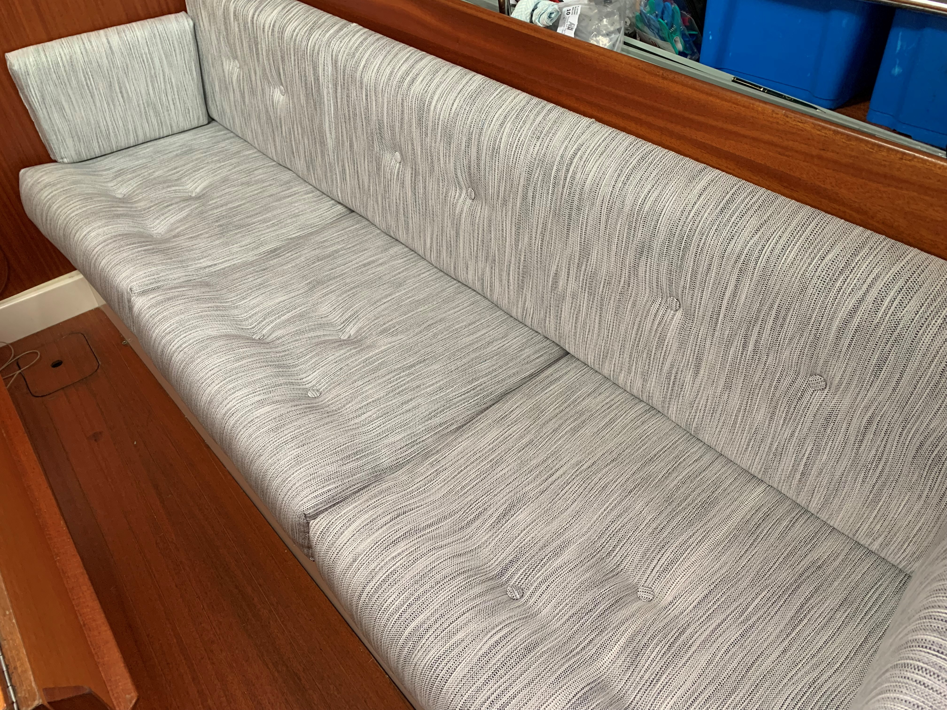 Marine Bedding Boat Upholstery - Patterned Saloon Boat Upholstery